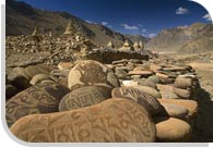 Carved Buddhist Mani Stones